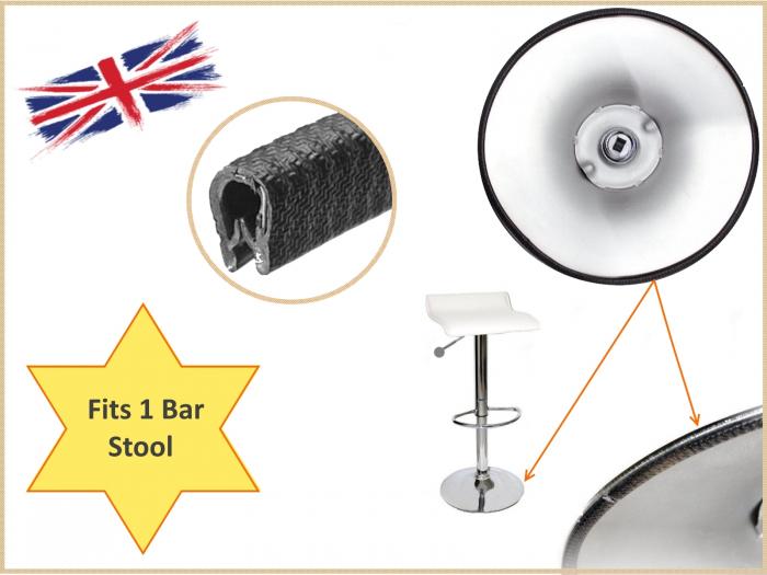 Kitchen bar stool edging trim seal for metal base surround