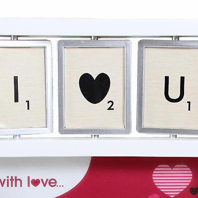 Valentine/'s Day Gift I Love You Luxury Spinner Tile 4/' x 6/' Box Photo Frame