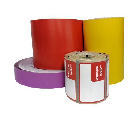 Custom thermal labels header