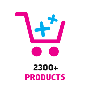 Over 200 products