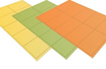 Coloured Printer Labels