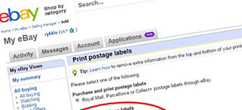 Using Integrated Labels with eBay