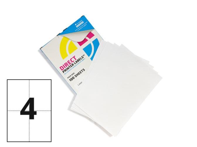 4 labels per sheet square corner labels 100 sheets