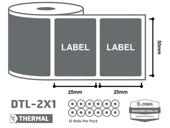 2 x 1 thermal labels uk wholesale supplier priory direct