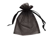 Black Organza Bags - 70 x 90mm