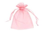 Pink Organza Bags - 70 x 90mm