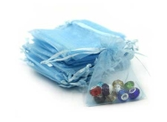 Light Blue Organza Bags - 70 x 90mm