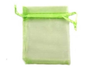 Light Green Organza Bags - 70 x 90mm