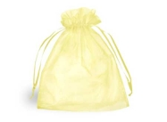 Yellow Organza Bags - 70 x 90mm