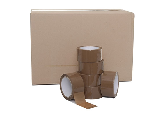 Parcel Tape Dispenser Gun 7 Rolls of Brown Parcel Tape *HIGH QUALITY*