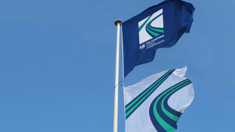 Interstate fia karting identity flag