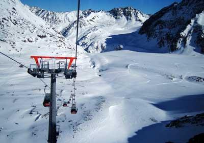 The Skiing, Pitztal, Austria