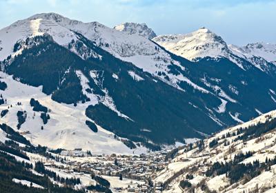 The Skiing, Saalbach-Hinterglemm, Austria