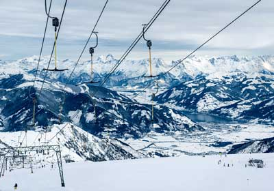 The Skiing, Zell am See, Austria
