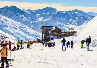 The Skiing, Courchevel, France