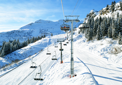 The Skiing, Les Carroz, France