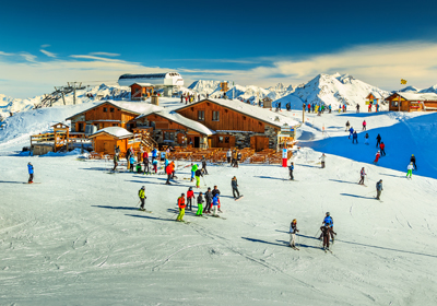 The Skiing, Les Menuires, France
