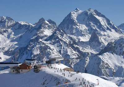 The Skiing, Meribel, France