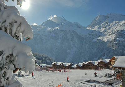 The Skiing, Sainte-Foy-Tarentaise, France