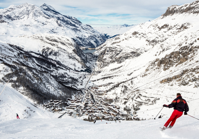 The Skiing, Val d'Isere and Tignes, France