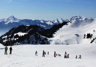 The Skiing, Villars, Switzerland