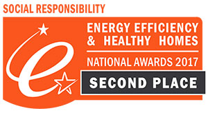 2nd place: Social Responsibility Company of the Year – National EE Awards & Healthy Homes Awards 2017