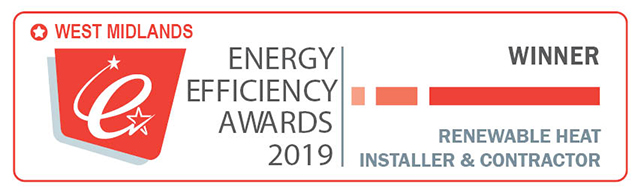 Winner: RHI Installer/Contractor of the Year – West Mids Energy Efficiency Awards 2019