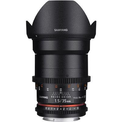 Samyang EF 35mm T1.5 VDSLR  AS UMC II Prime Lens