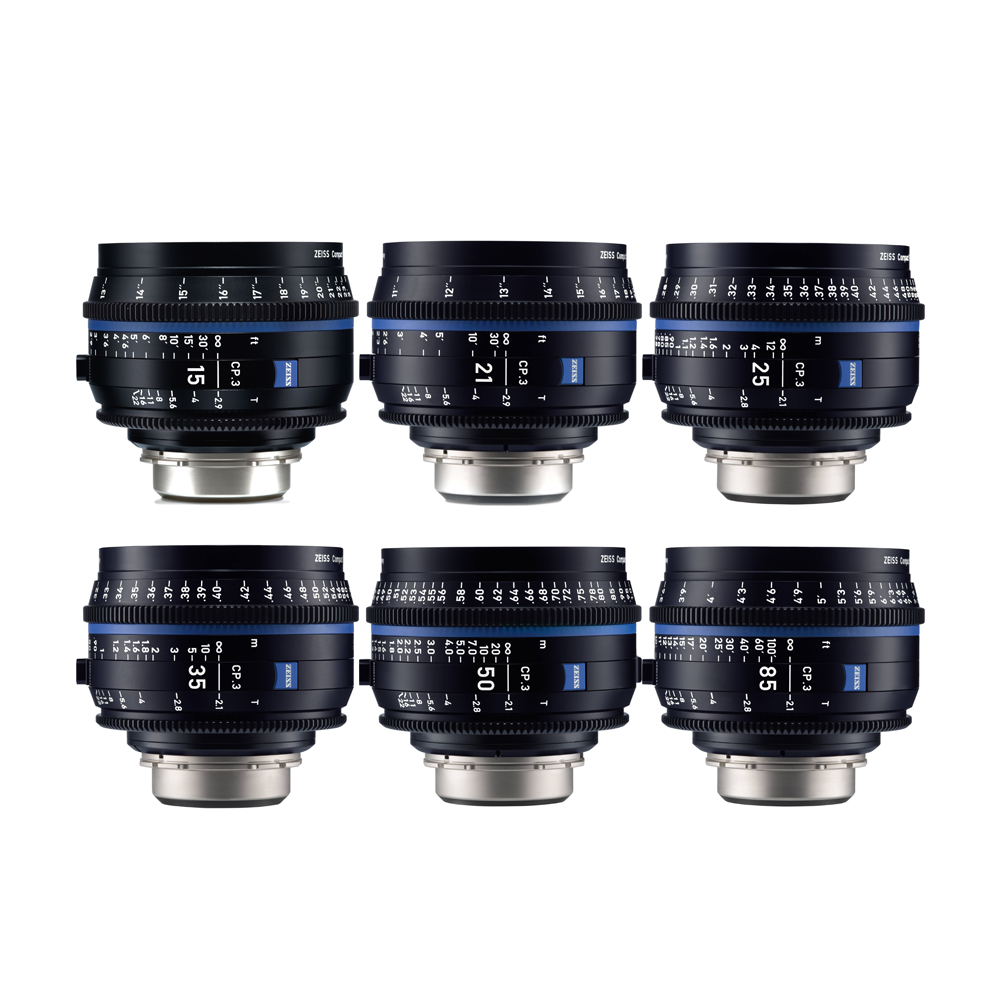 Zeiss Compact Prime CP.3 Lens Set - PL Mount
