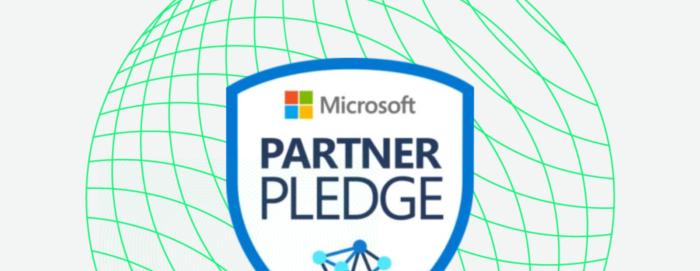 Microsoft Partner Pledge Linked In Twitter asset