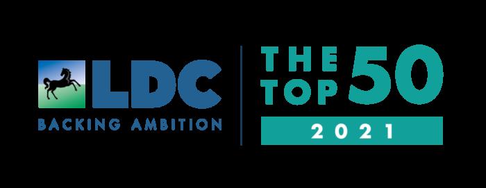 Top50 2021 Logo Horizontal white