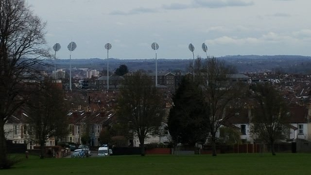 The lights at the cricket ground