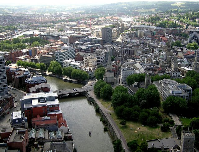 Aerial shot of Bristol