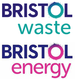 Bristol Waste and Bristol Energy logos