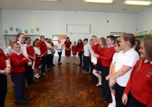 Bridget visits Burnside Primary School