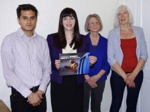 Bridget with members of Wearside Amnesty International Group