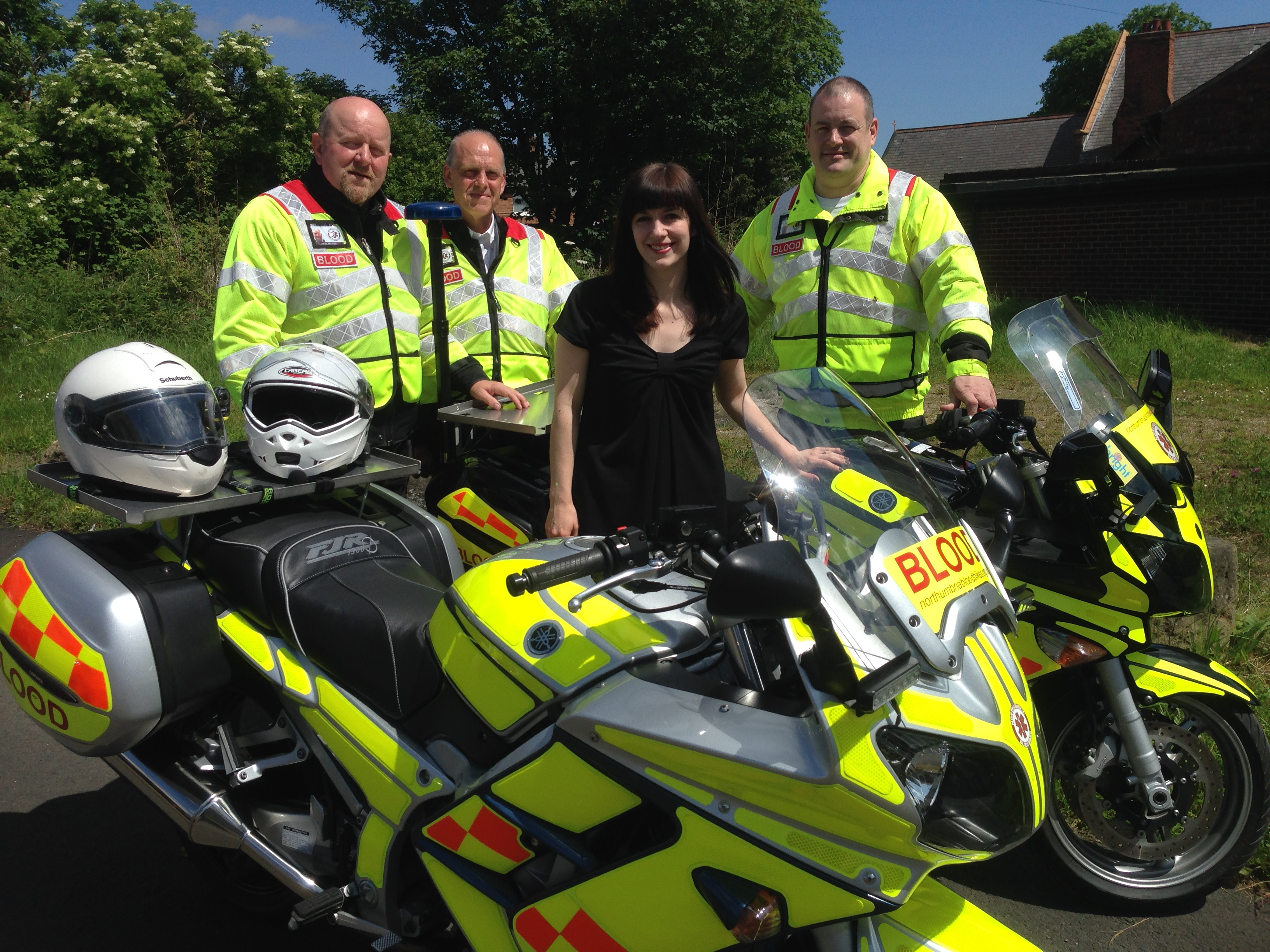 Bridget_Phillipson_with_blood_bikes_volunteers.JPG