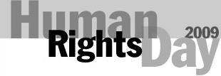 Human rights day 2009 logo