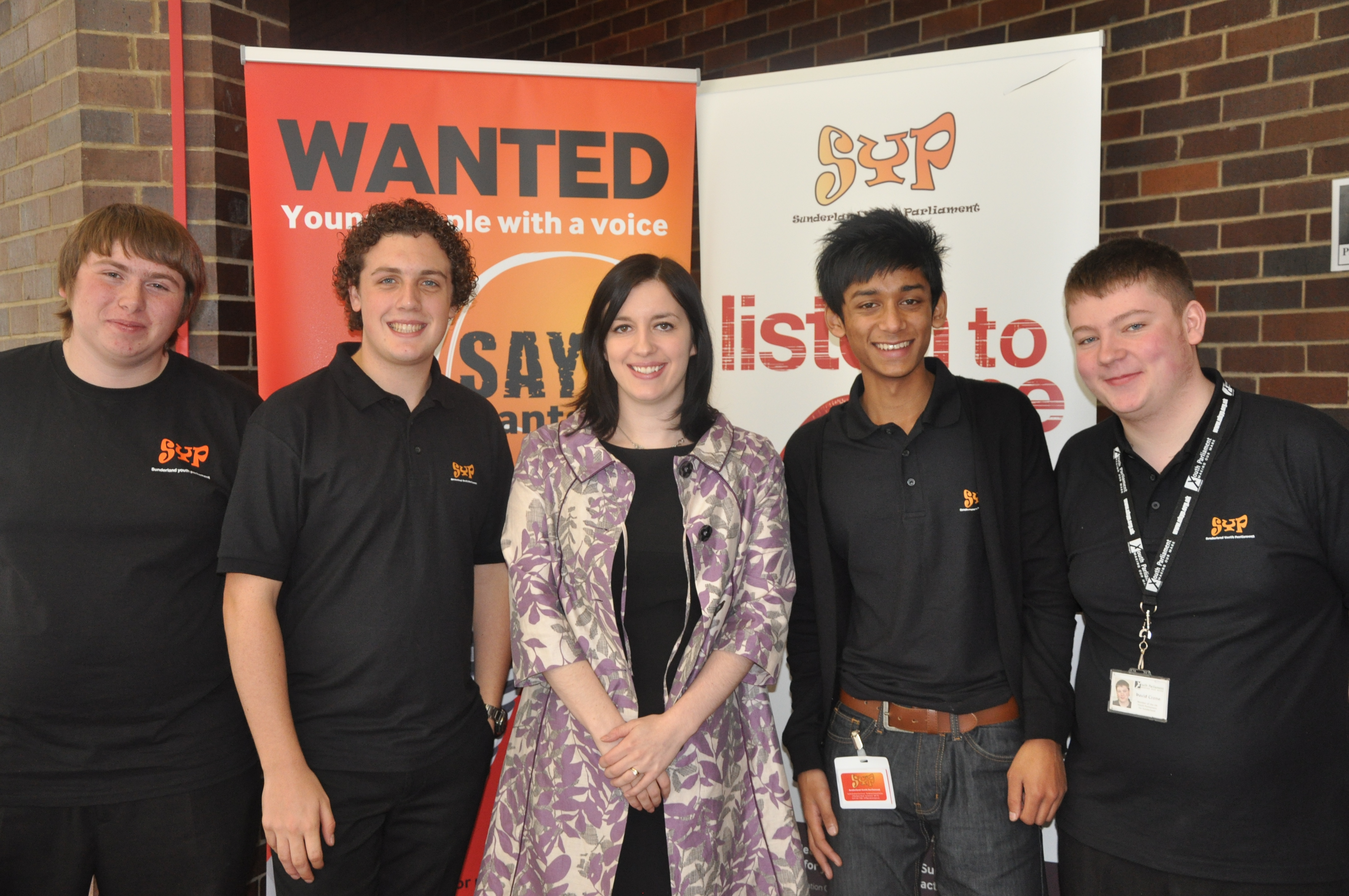 Bridget with members of Sunderland Youth Parliament
