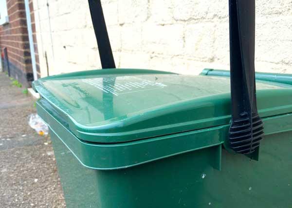 Reycling bin in Exeter