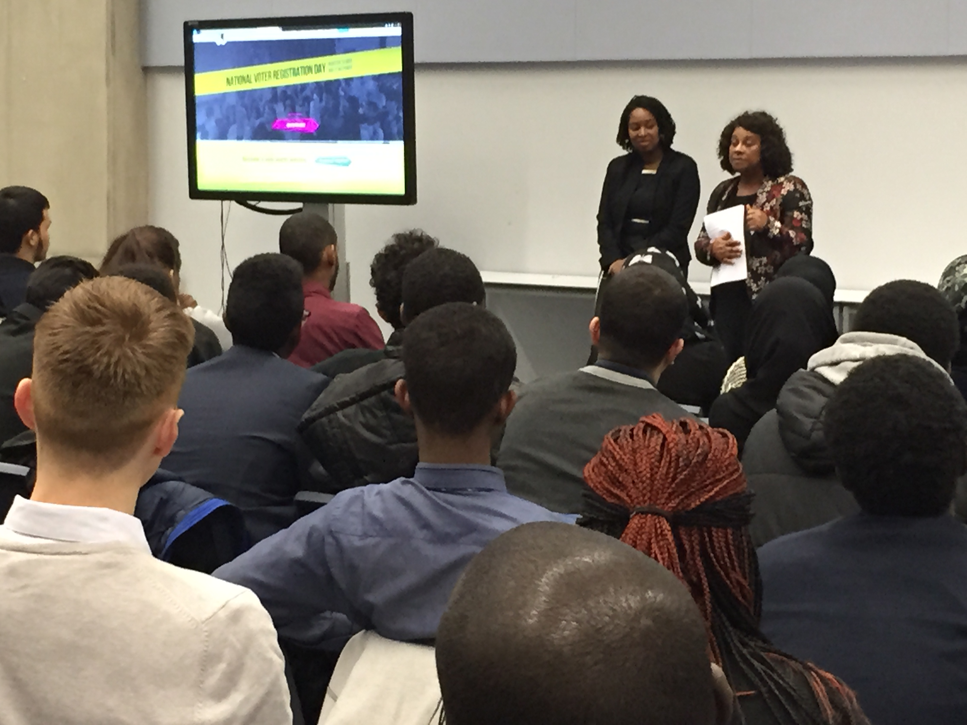 Dawn and Baroness Doreen Lawrence speaks to sixth form students at Crest Academy