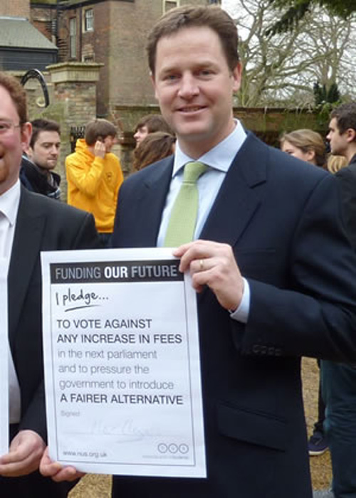 Nick Clegg breaks yet another pledge