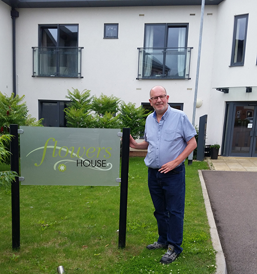 Cllr Nigel Long at Flowers House