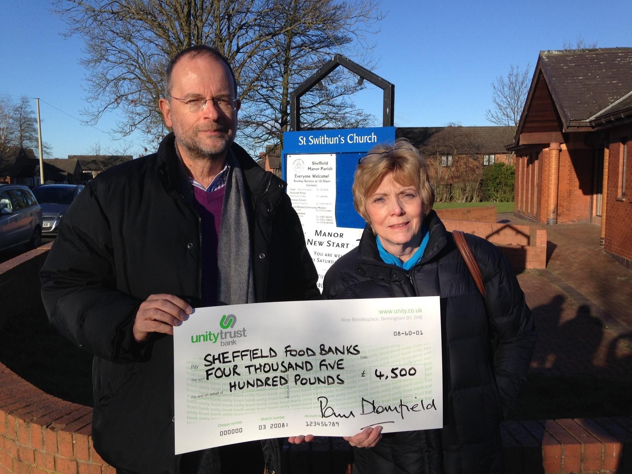 My Thanks For Sheffields Generosity Paul Blomfield