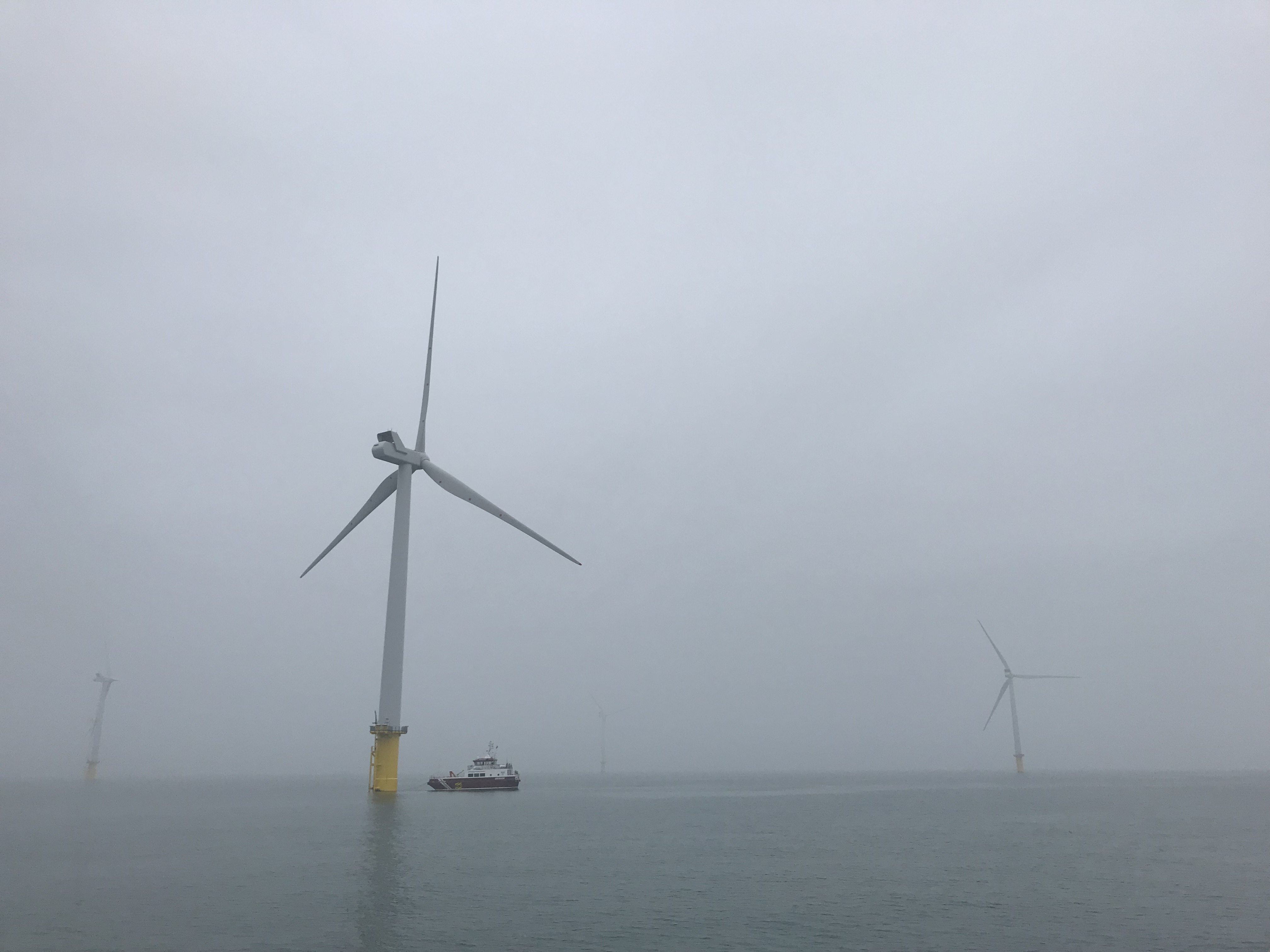 Rampion wind farm turbine