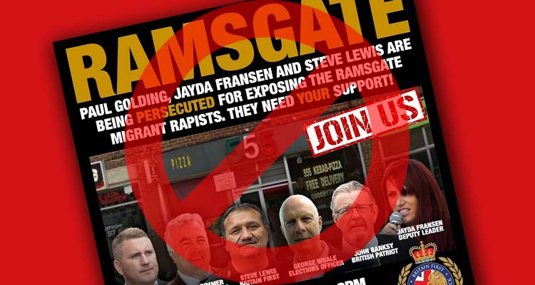 No Britain First March in Ramsgate graphic