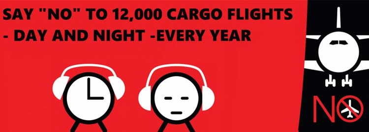 No Night Flights Campaign Graphic