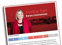Karen's Seeing Red column in The Isle of Thanet News