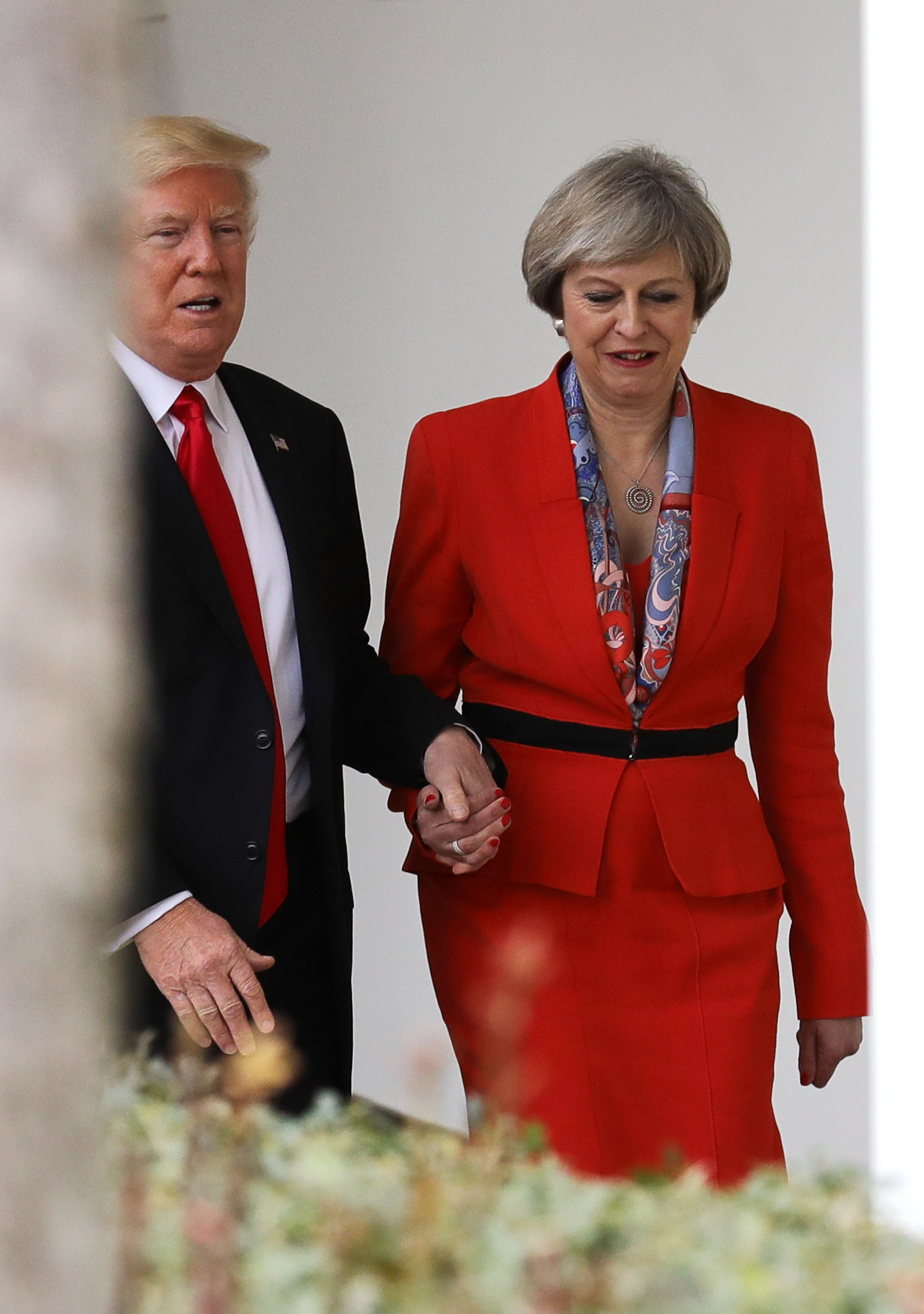 President Trump and Theresa May in the White House