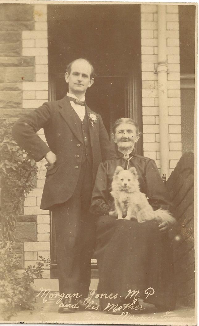 Morgan Jones at his home in Park Crescent, Bargoed